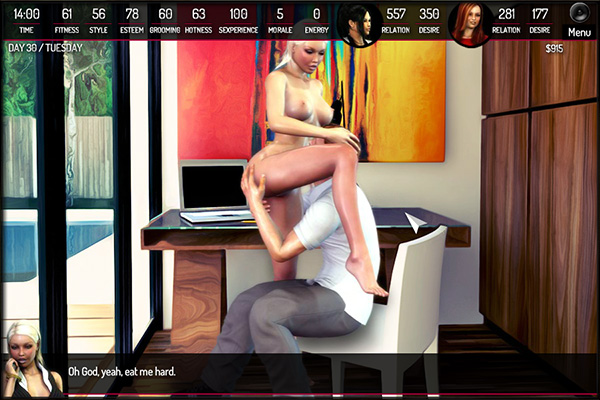 Morning temptation erotic game